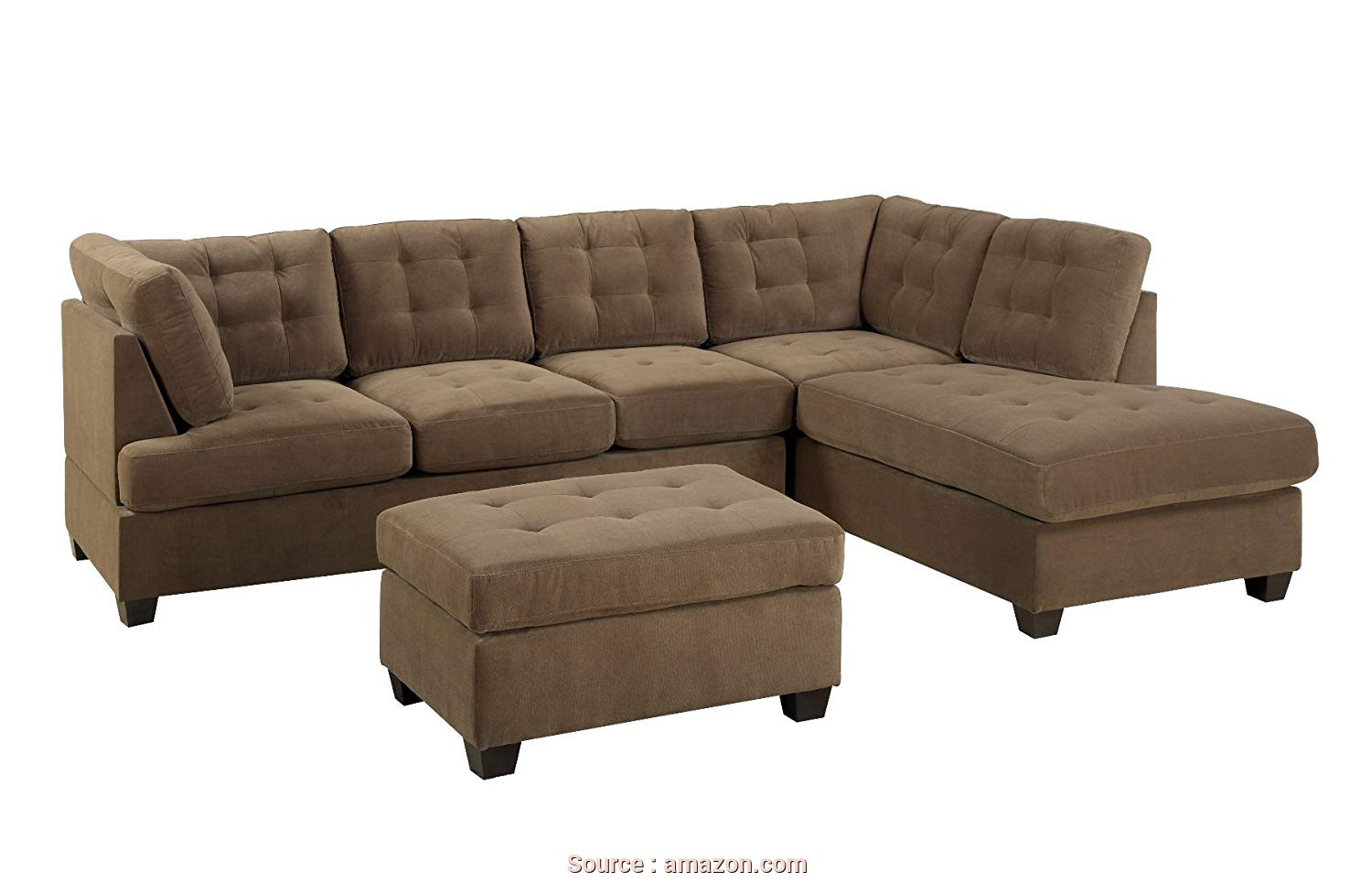 Divano Shabby, Chaise Longue, Superiore Amazon.Com: Bobkona Michelson 3-Pieces Reversible Sectional, Chaise, Loveseat With Ottoman: Kitchen & Dining