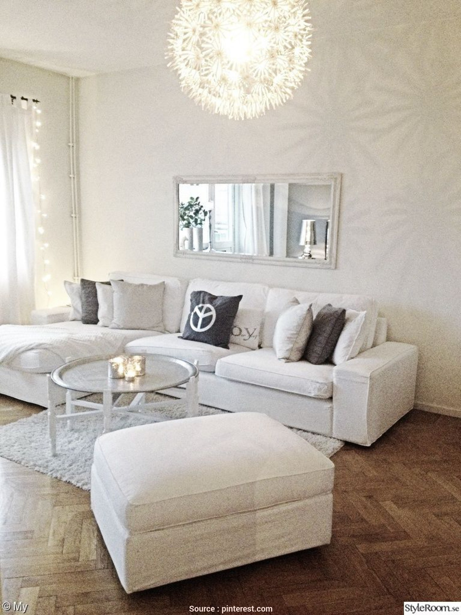 Divano Shabby Chic Ikea, Elegante How To Decorate Your Living Room With, Kivik Sofa From Ikea, SOFA, FOOTSTOOL-, Be Used As, Chaise Lounge