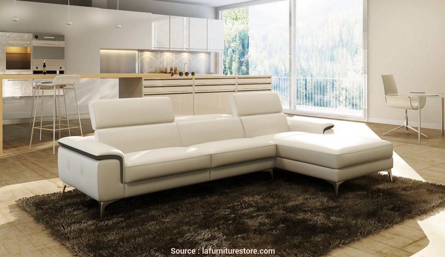 Divano Sofa Italia, Fantasia Divani Casa 990A Modern White, Grey Italian Leather Sectional Sofa