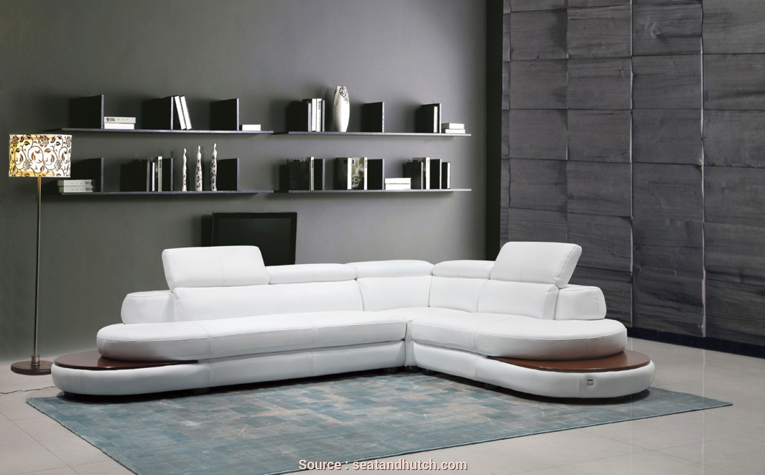 Divano Sofa Italia, Divertente Divani Casa Killian Modern White Italian Leather Sectional Sofa