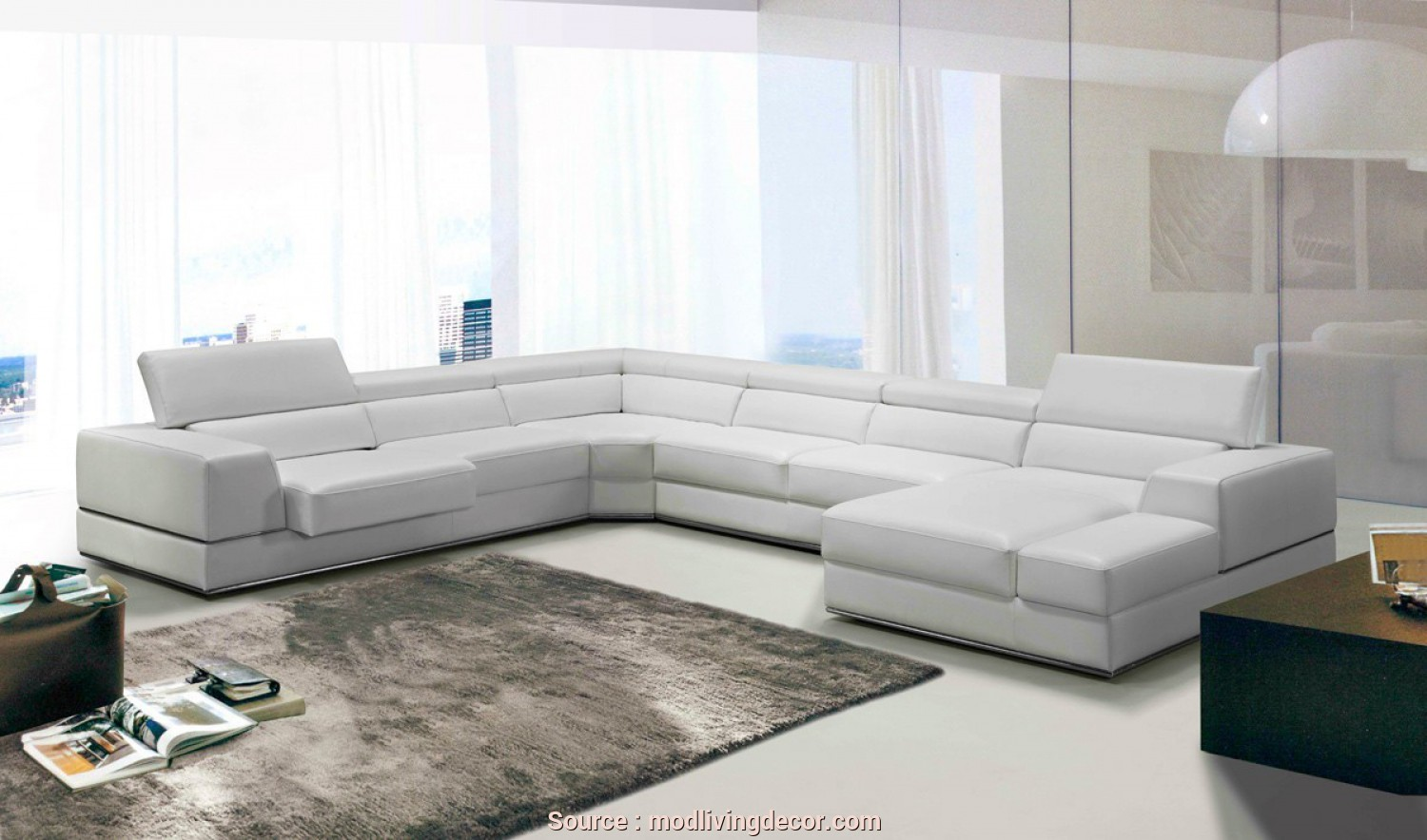 Divano Sofa Italia, Deale Divani Casa Pella Modern White Italian Leather Sectional Sofa