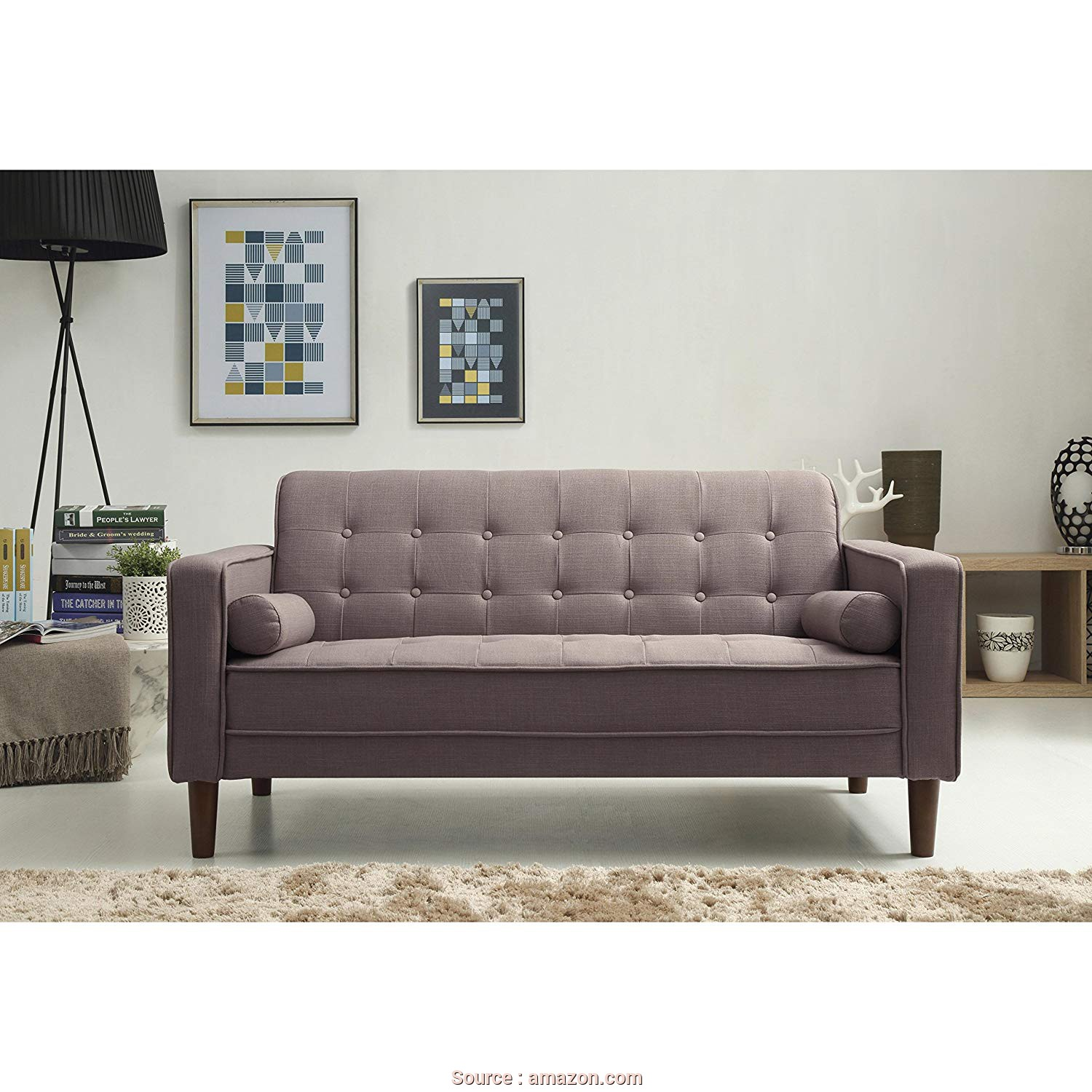 Divano Sofa Team, Semplice Amazon.Com: Standard Design Isaac Sofa Made W/ Linen, Foam,, Wood In Gray Finish 28