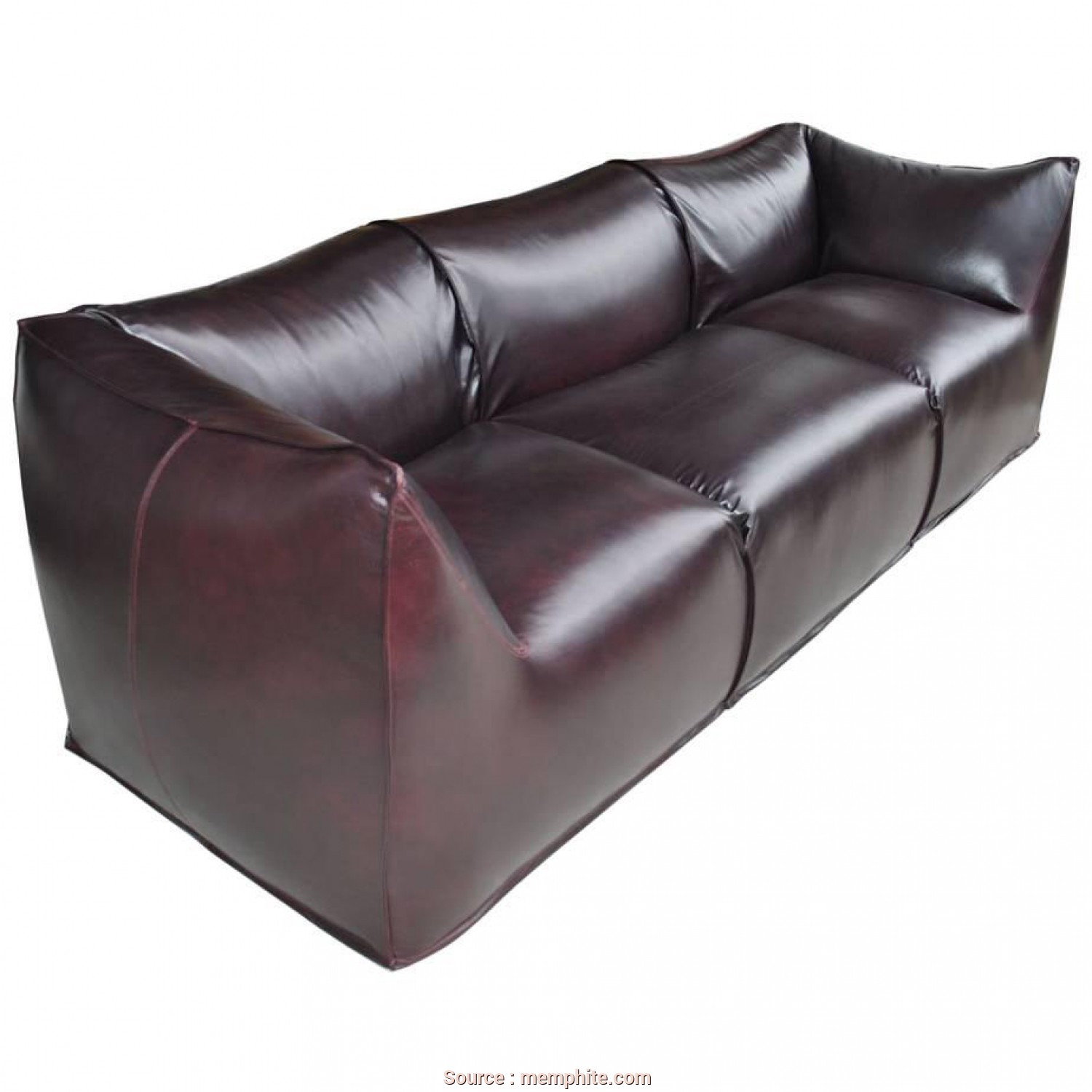 Divano Tentazioni Cassina, Bello Modern Mario Bellini, Cassina La Bambole Three-Seat Leather Sofa Sc 1 St 1StDibs