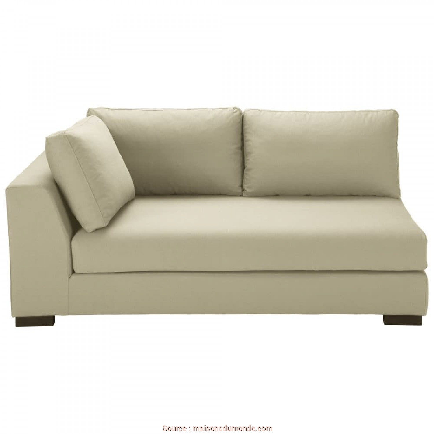 Divano Terence Maison Du Monde, Freddo Putty-Coloured Cotton Modular Sofa, Left Armrest Terence