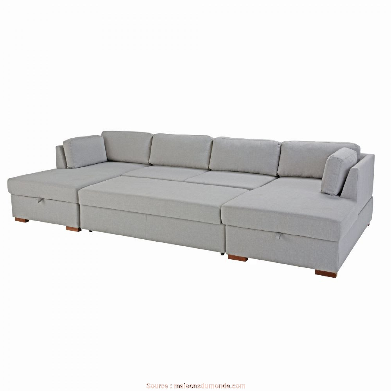 Divano Time Square Maison Du Monde, Eccellente Light Grey 7-Seater U-Shaped Sofa, Times Square