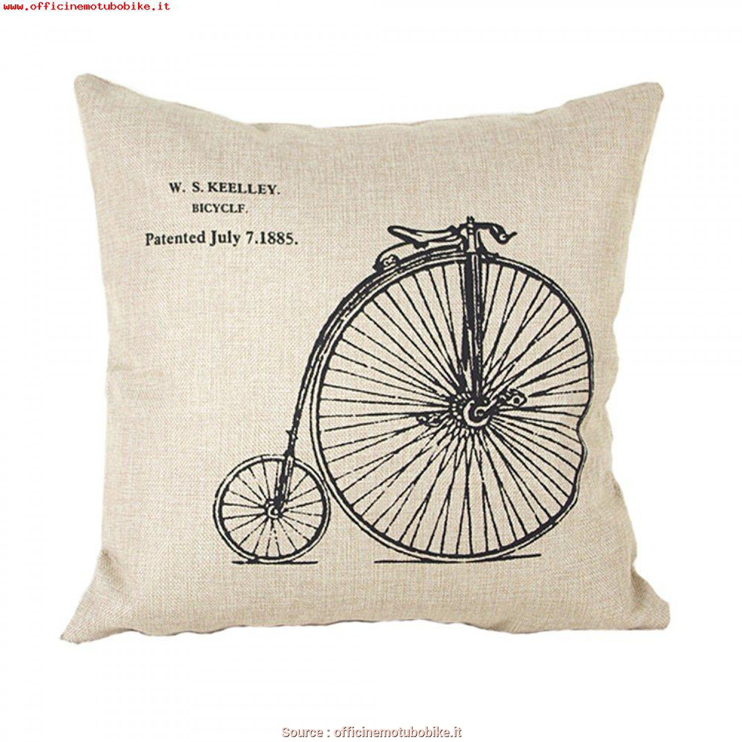 Federe X Cuscini Grandi, Originale Ineguagliabile Luxbon-Cotton Lino Throw Pillow Covers Cuscino Decorativo Federa Bike, Ruota Grandi E Piccole