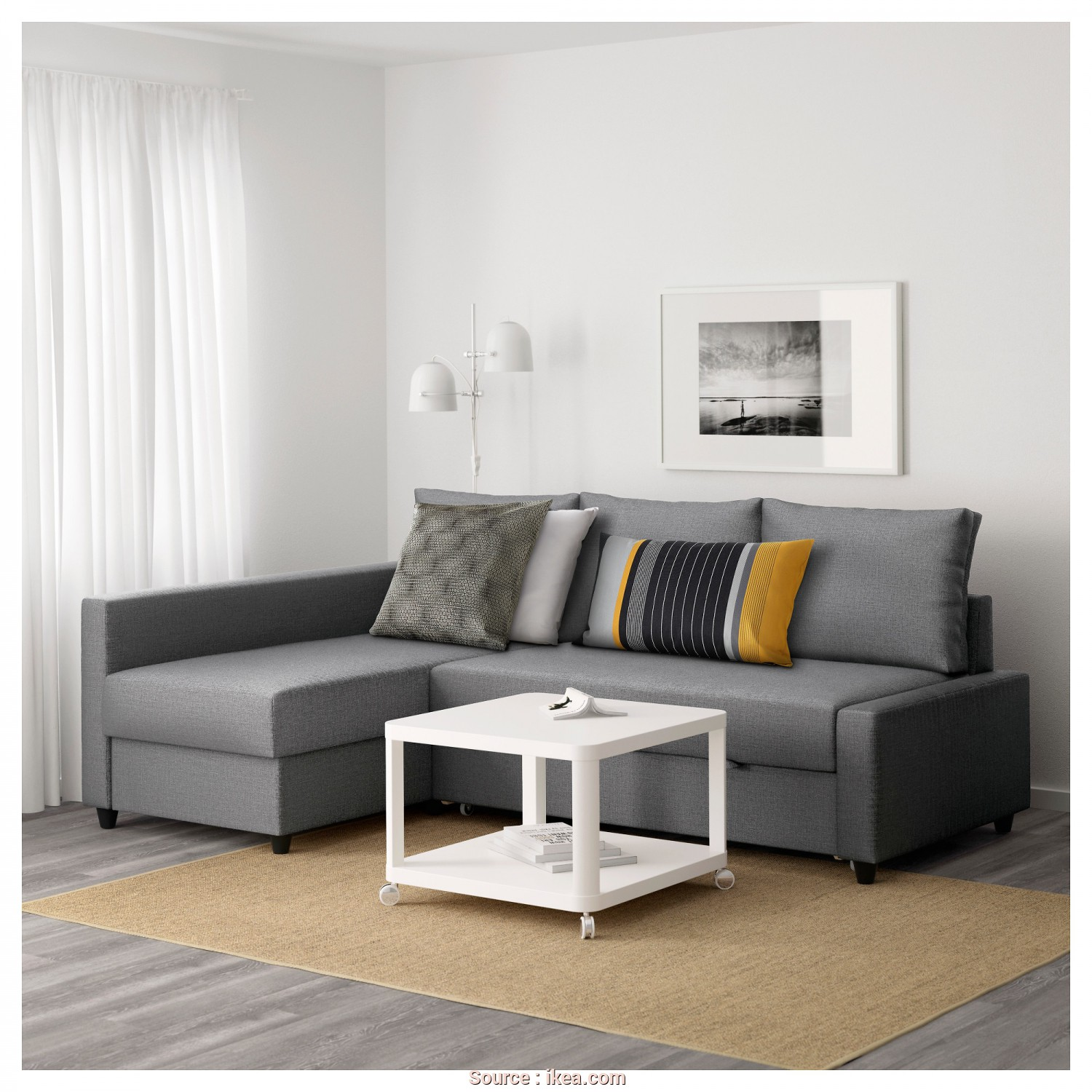 Futon Ikea Catalogo, Costoso IKEA FRIHETEN Corner Sofa-Bed With Storage Sofa, Chaise Longue, Double, In