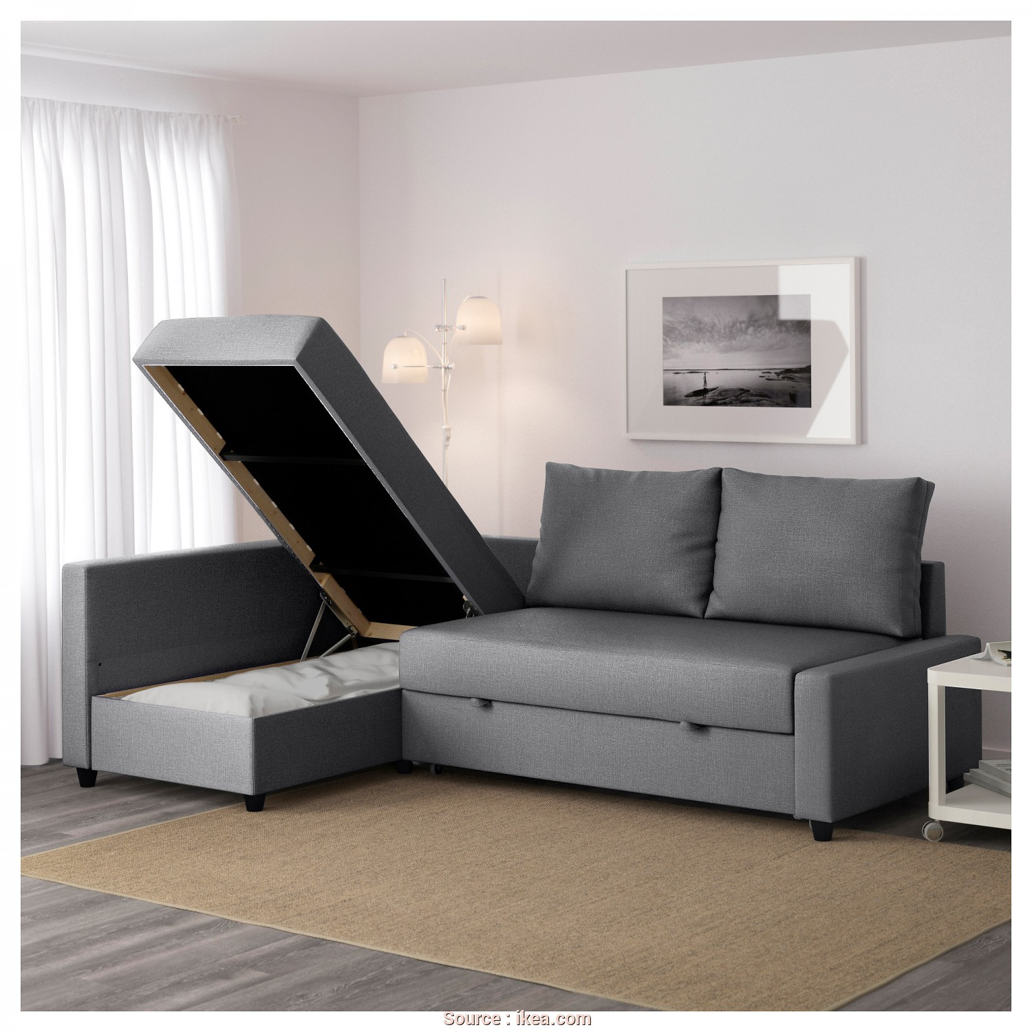 Futon Ikea Catalogo, Incredibile IKEA FRIHETEN Corner Sofa-Bed With Storage Sofa, Chaise Longue, Double, In