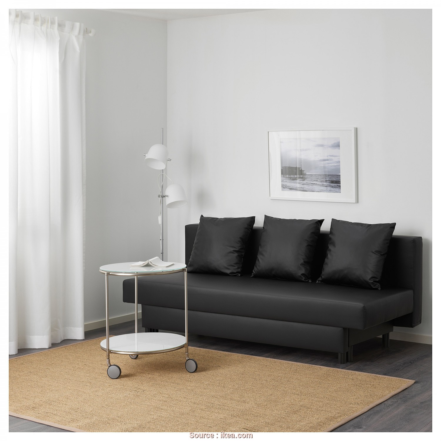 Ikea Asarum Sofa Review, Delizioso IKEA ASARUM 3-Seat Sofa-Bed Readily Converts Into A Bed