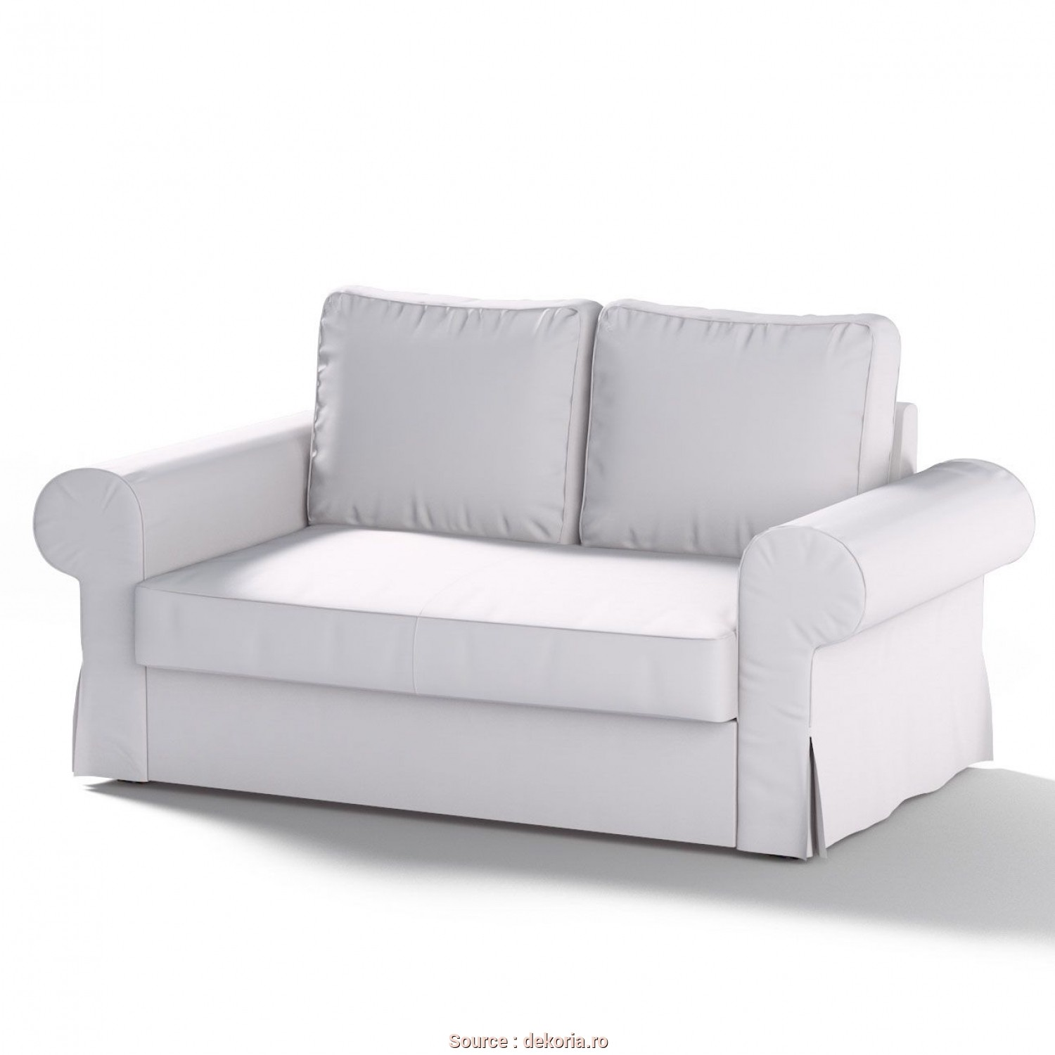 Ikea Backabro 2 Seater, Loveable Backabro 2-Seat Sofa, Cover In Collection Panama Cotton, Fabric: 702