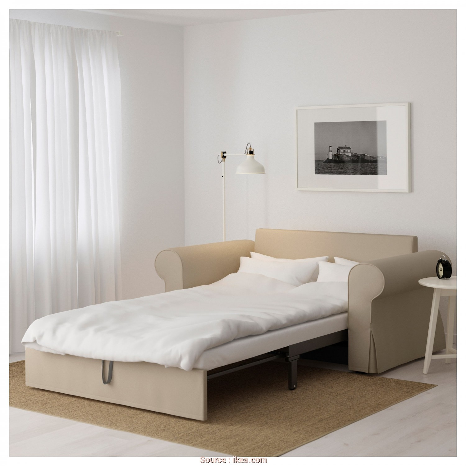 Ikea Backabro 2 Seater Sofa Bed, Bellissimo BACKABRO Two-Seat Sofa-Bed Ramna Beige