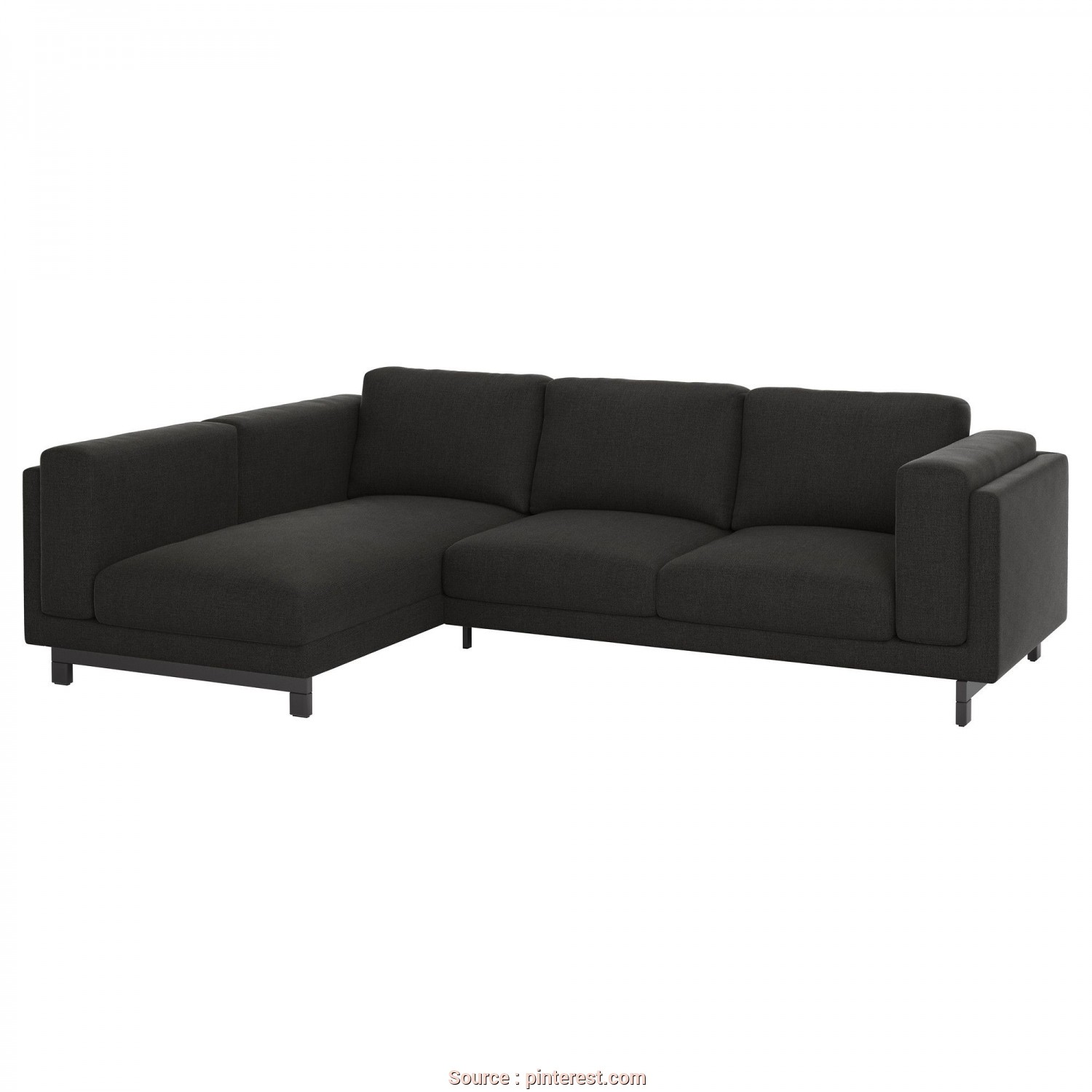 Ikea Backabro, Bettsofa, Rustico NOCKEBY Loveseat With Chaise, Left, Tenö Dark Gray/Wood, IKEA