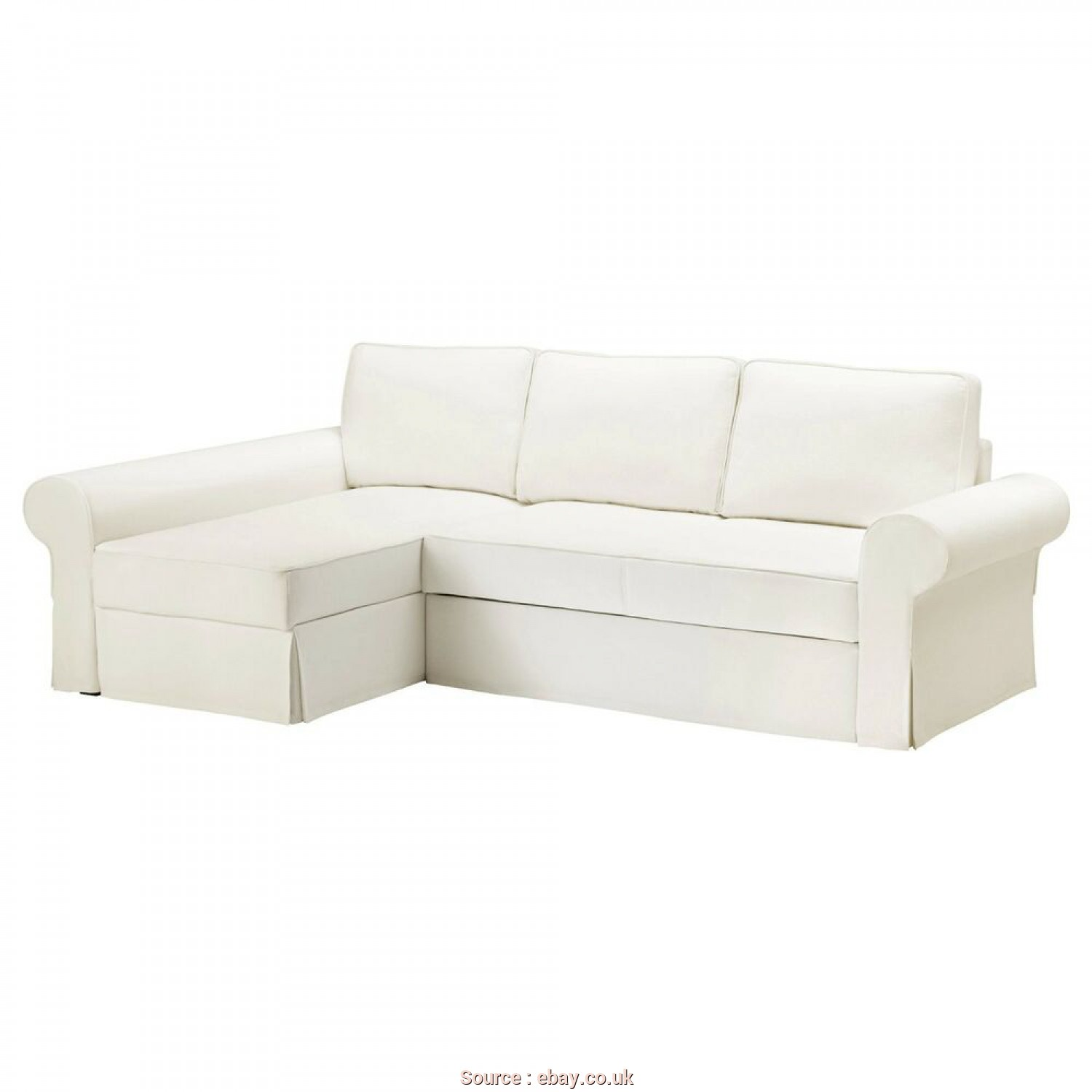 Ikea Backabro Ebay, Esclusivo Details About Ikea BACKABRO Cover Sofa-Bed With Chaise Longue Hylte White