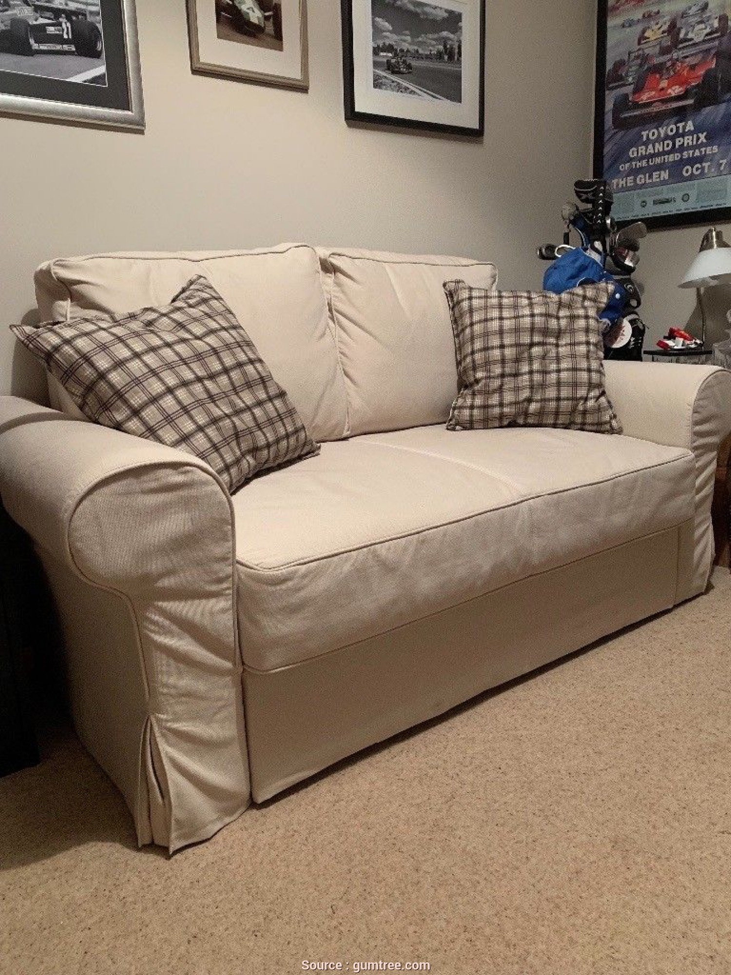 Ikea Backabro Kokemuksia, Favoloso Ikea Backabro 2 Seater Sofa Bed. Used Once, Spotless Condition From A Smoke And