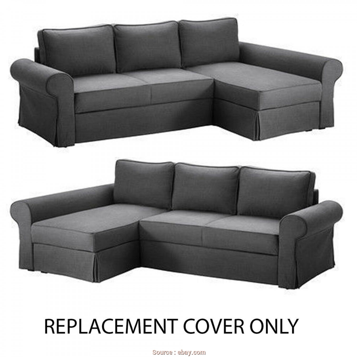 Ikea Backabro Romania, Favoloso IKEA Backabro Replacement Sofa, With Chaise Slip Cover, Svanby Grey, EBay