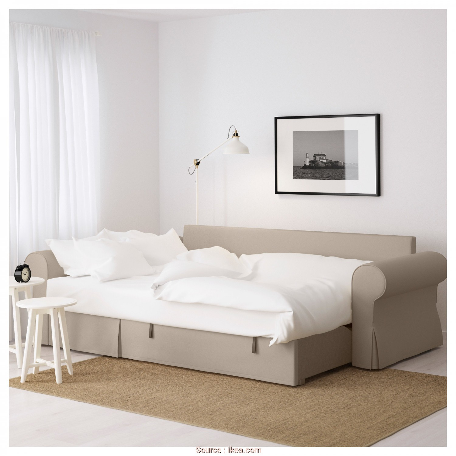 Ikea Backabro Sofa Review, Bello IKEA BACKABRO Sofa, With Chaise Longue Readily Converts Into A Bed