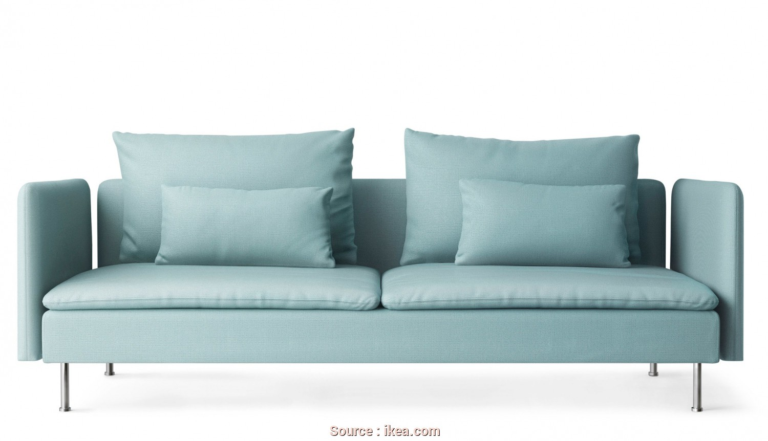 Ikea Divano Knislinge, Freddo An IKEA SÖDERHAMN Three-Seater Sofa In Light Turquoise