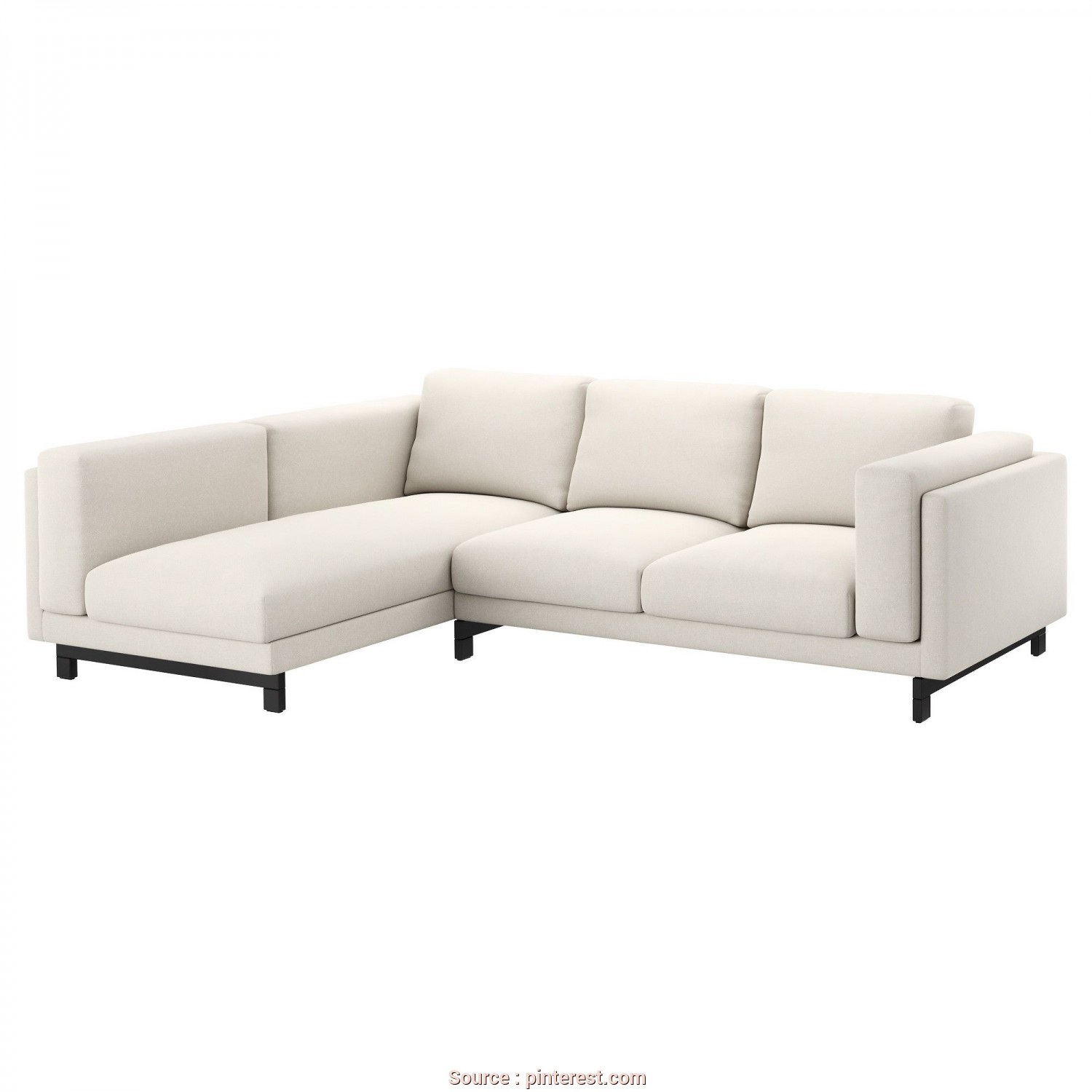 Ikea Divano Nockeby 3 Posti, Semplice IKEA, NOCKEBY, Sectional, 3-Seat Left, Left/Tallmyra Light Beige, Wood, ,, Get Extra Soft Comfort, Support Because, Thick Seat Cushions Have A