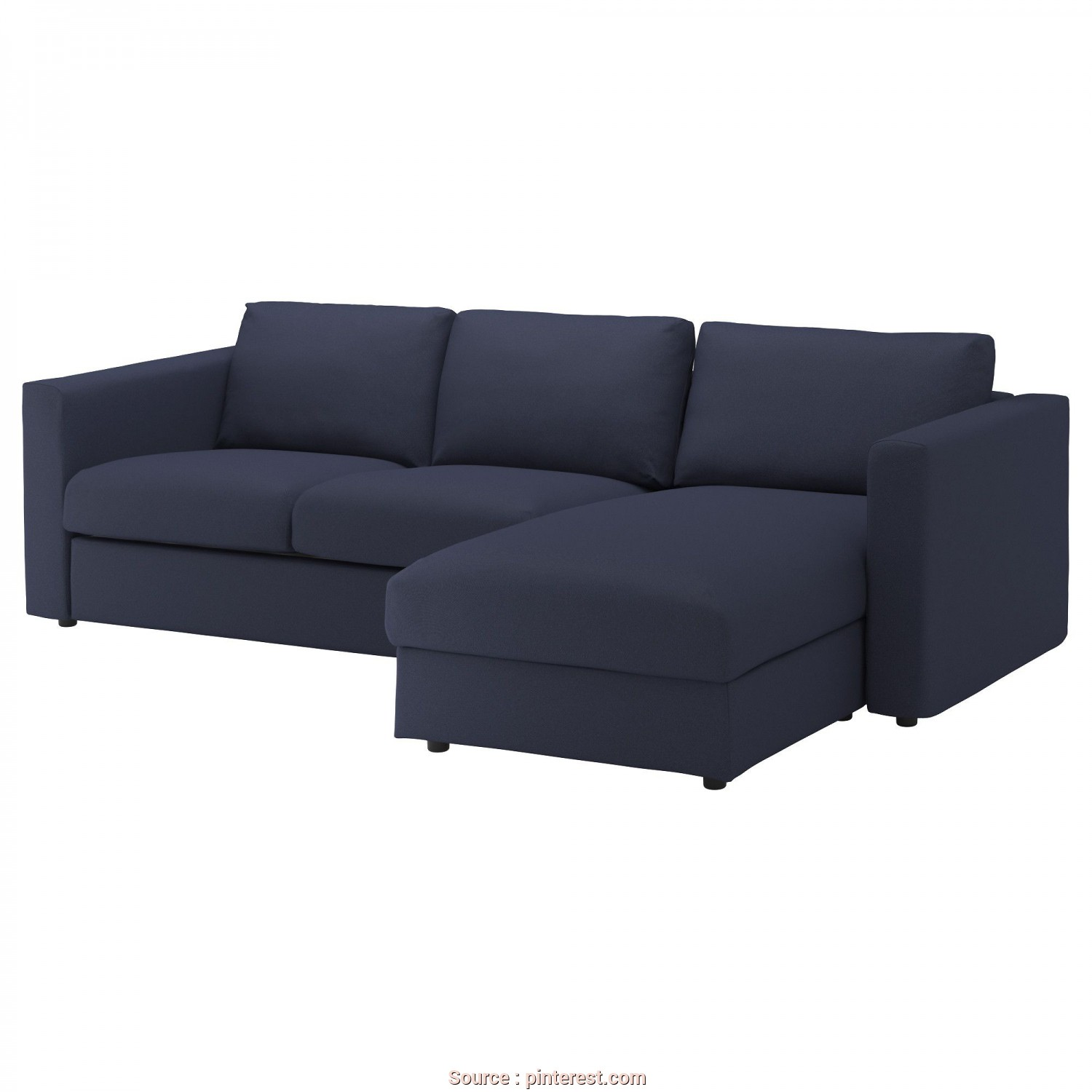 Ikea Klippan 3 Sitzer Sofa, Affascinante IKEA, VIMLE, Sofa, With Chaise/Orrsta Black-Blue, , This Soft, Cozy Sofa Will Have A Long Life As, Seat Cushions, Filled With High Resilience Foam