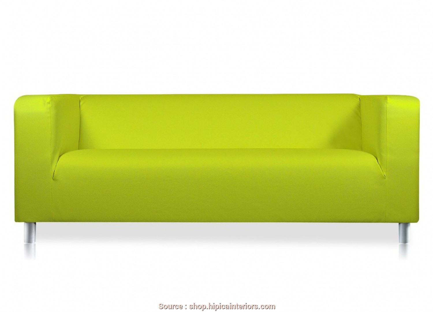 Ikea Klippan, Leather Sofa, Magnifico Verano Faux Leather Cover To, Ikea Klippan 2 Seat Sofa Lime Green