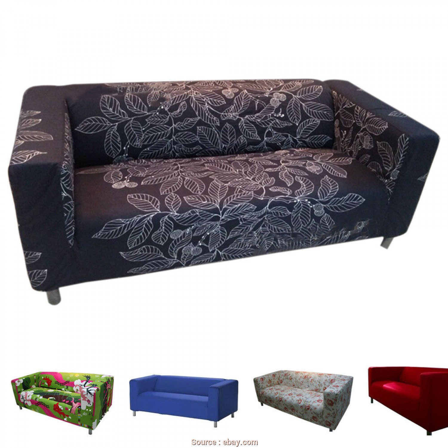 Ikea Klippan Sofa Cover Ebay, Stupefacente Details About Home Furniture Customize Sofa Cover Slipcover, KLIPPAN 4 Seat Decoration UDD