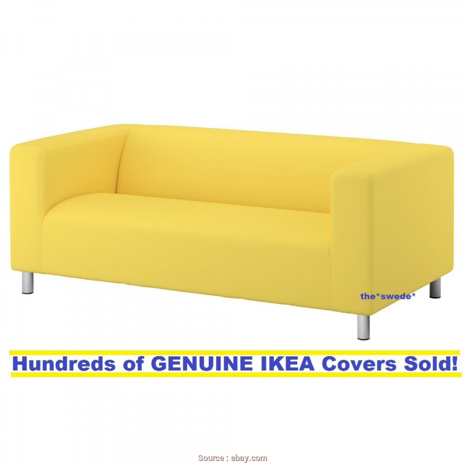 Ikea Klippan Sofa Covers Yellow, Bellissimo Details About Ikea KLIPPAN Loveseat (2 Seat Sofa) Cover Slipcover VISSLE YELLOW, SEALED!