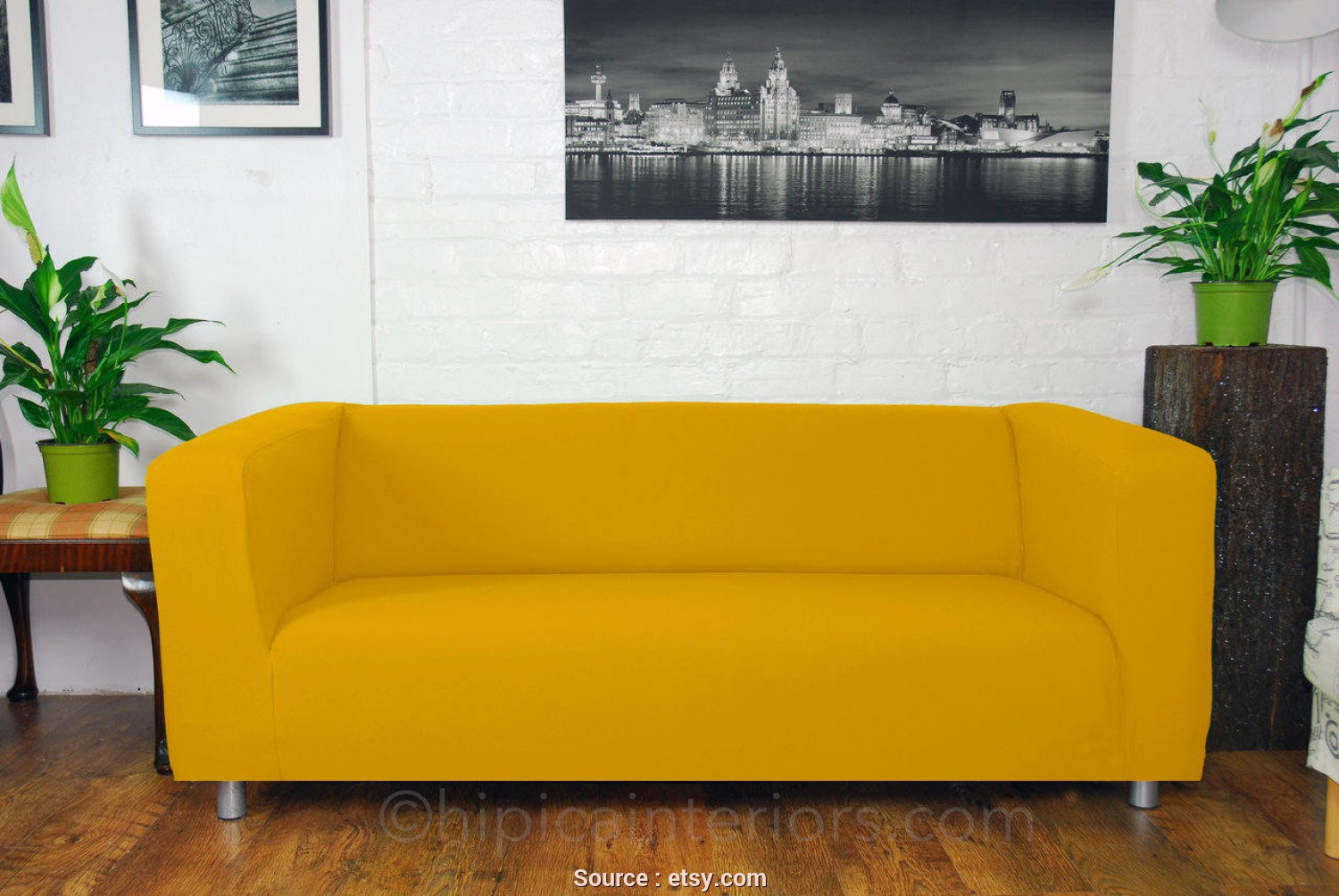 Ikea Klippan Sofa Covers Yellow, Casuale Ikea Klippan Custom Made Sofa Slip Covers. Easy To, Marigold