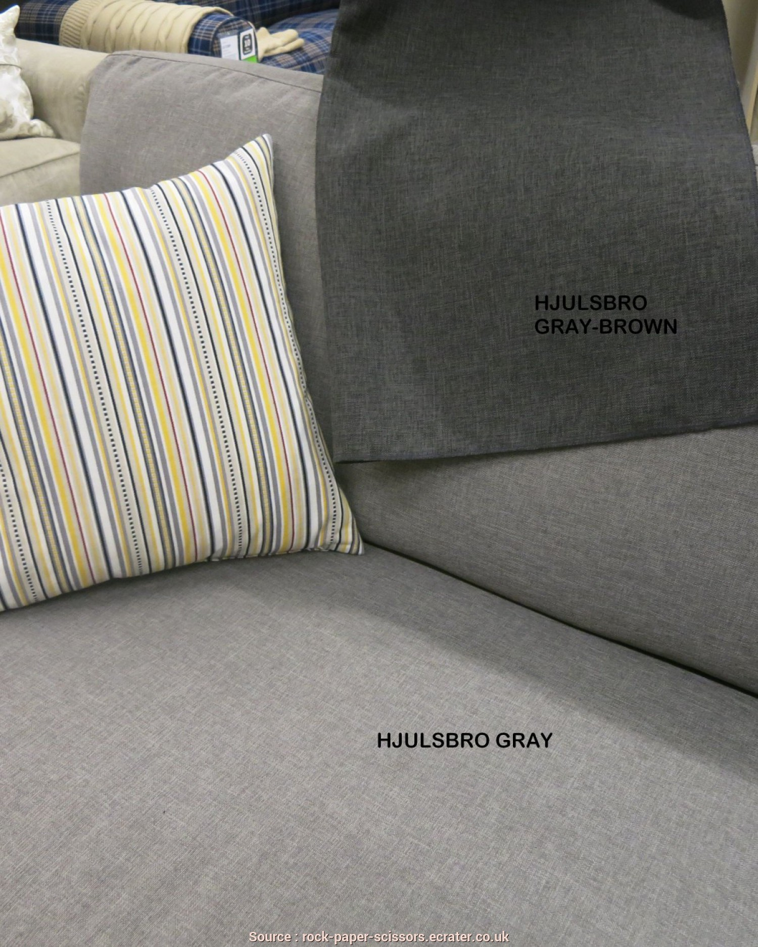Ikea Klippan Vissle Grey, Freddo IKEA HOVÅS Hovas Sofa Armchair, Footstool SLIPCOVER Cover Combo HJULSBRO GRAY BROWN Grey, Brown