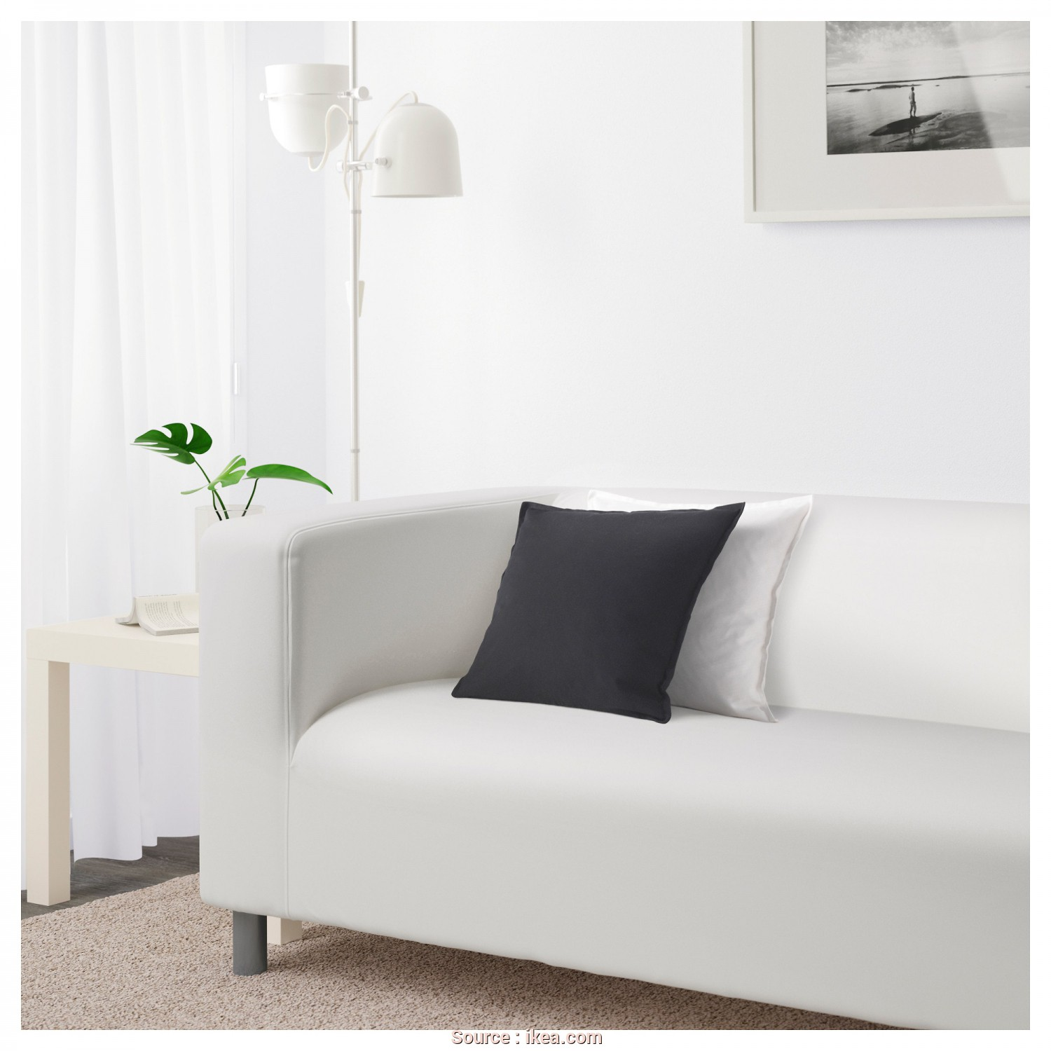 Ikea Klippan White, Bello IKEA KLIPPAN 2-Seat Sofa, Cover Is Easy To Keep Clean Since It Is