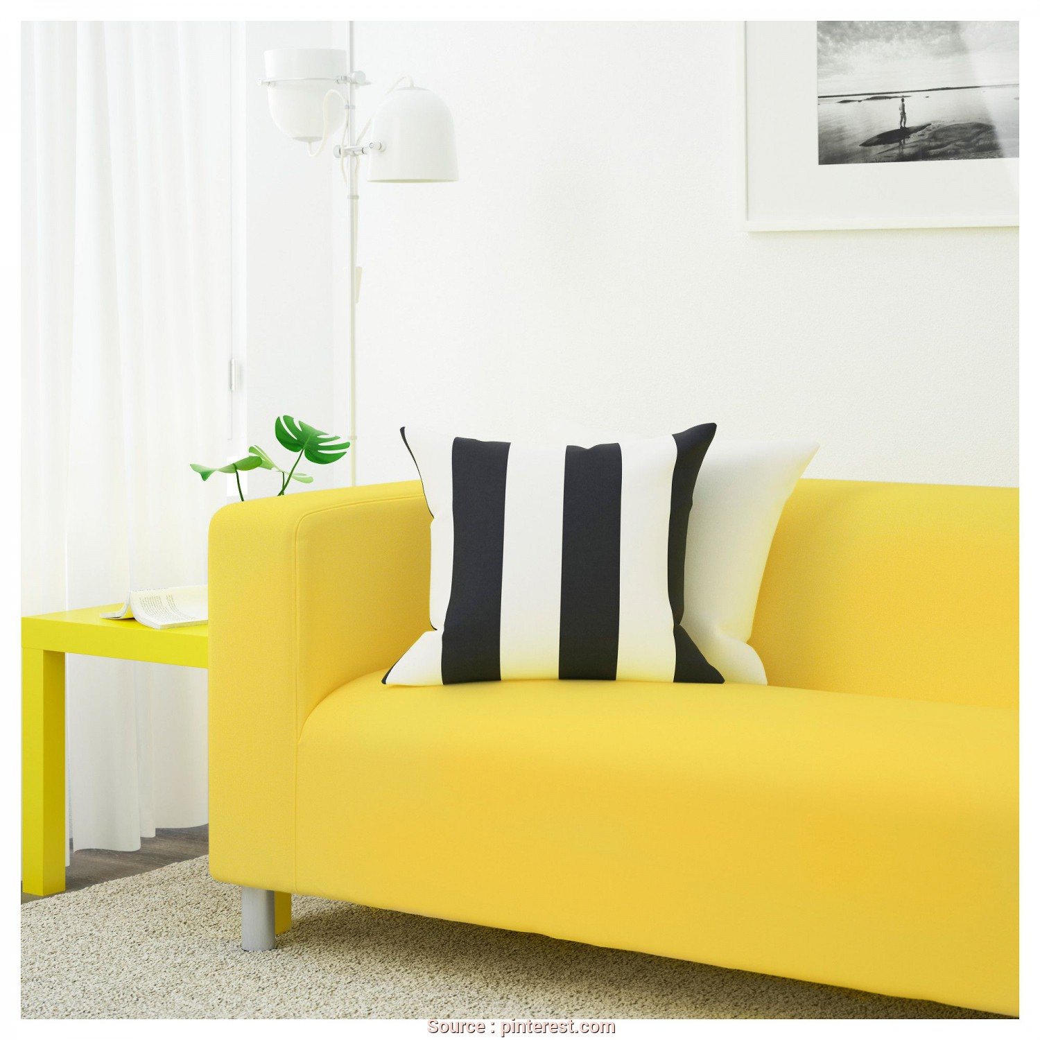 Ikea Klippan Yellow, Amabile IKEA, KLIPPAN Loveseat Vissle Yellow, Products, Pinterest
