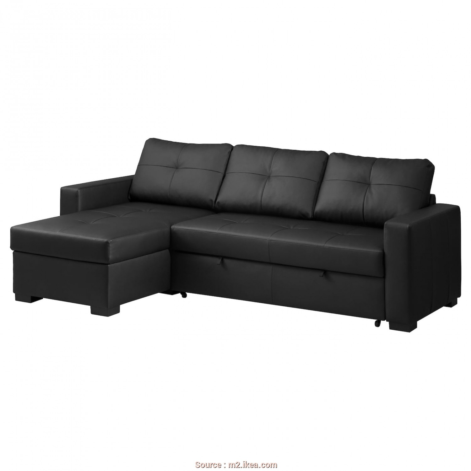 Ikea Vilasund Kokemuksia, Affascinante Corner Sofa-Bed With Storage RAGUNDA Kimstad Black