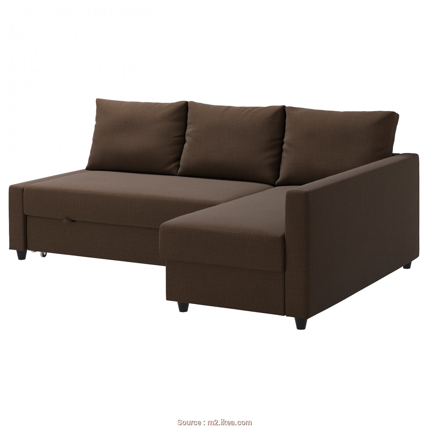 Ikea Vilasund Or Friheten, Eccellente Corner Sofa-Bed With Storage FRIHETEN Skiftebo Brown