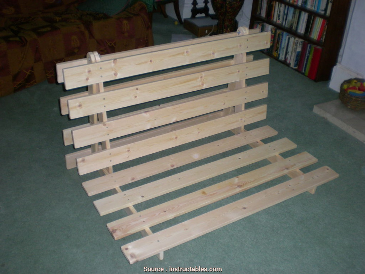 Ikea Wooden Futon Assembly Instructions, Sbalorditivo How To Make A Fold, Sofa/Futon/Bed Frame: 14 Steps (With Pictures)