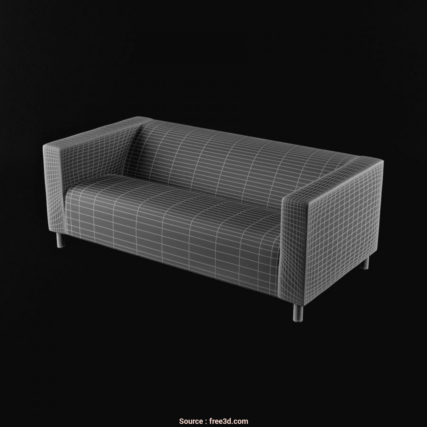 Klippan Divano, Posti, Deale IKEA KLIPPAN Divano A, Posti Royalty-Free 3D Model, Preview, 6