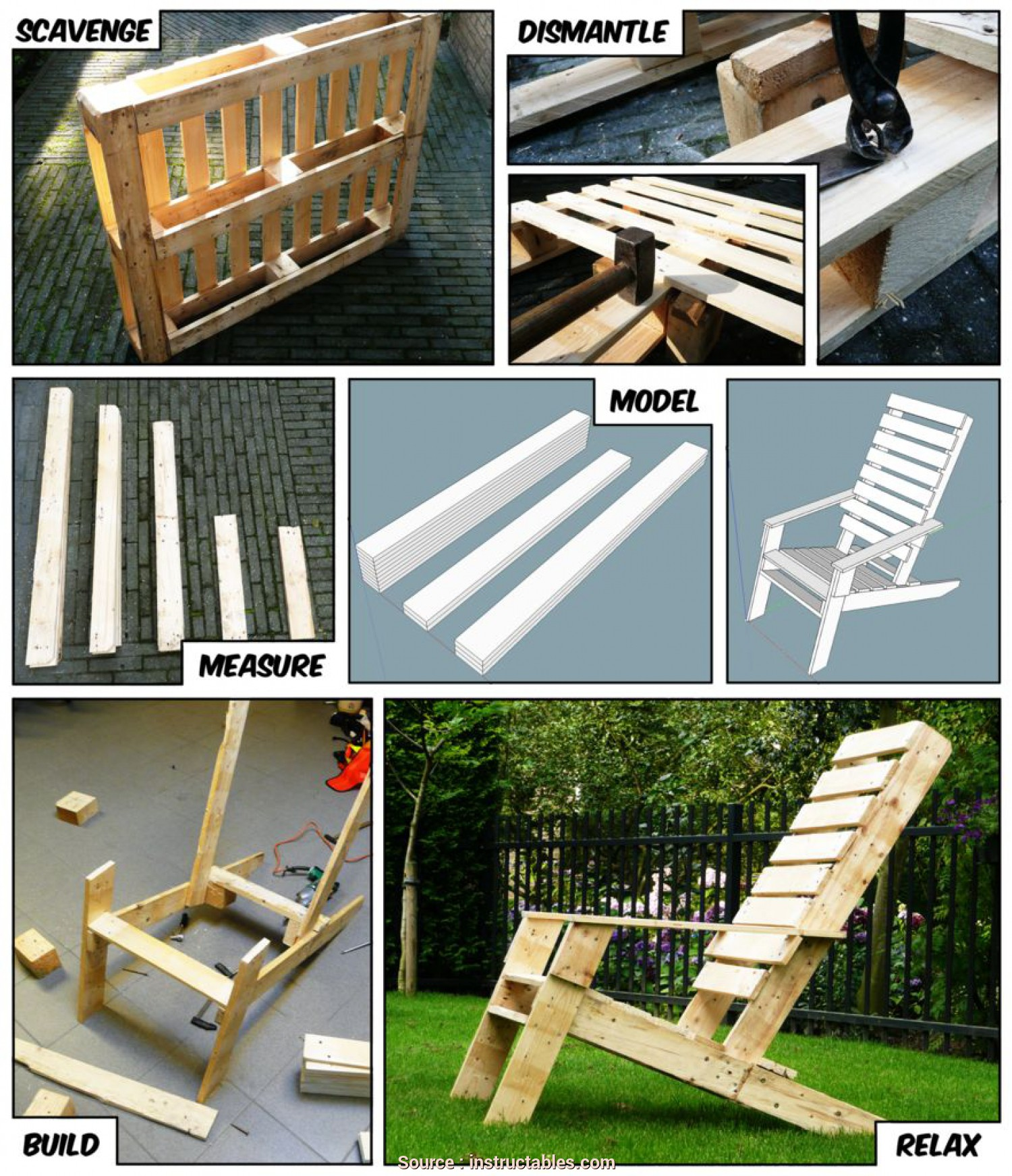 Poltrona De Pallet Pinterest, Bello One-Pallet Chair (With Pictures)