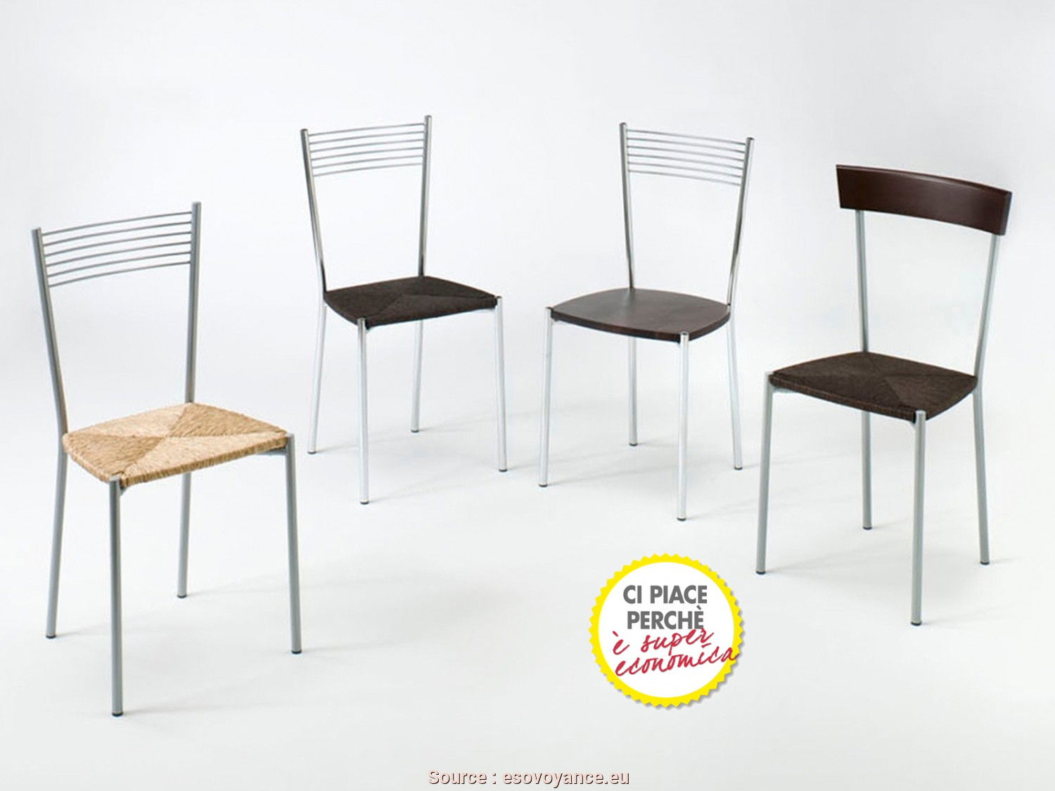 Completare 6 poltroncine bianche ikea jake vintage for Sedie rosse cucina