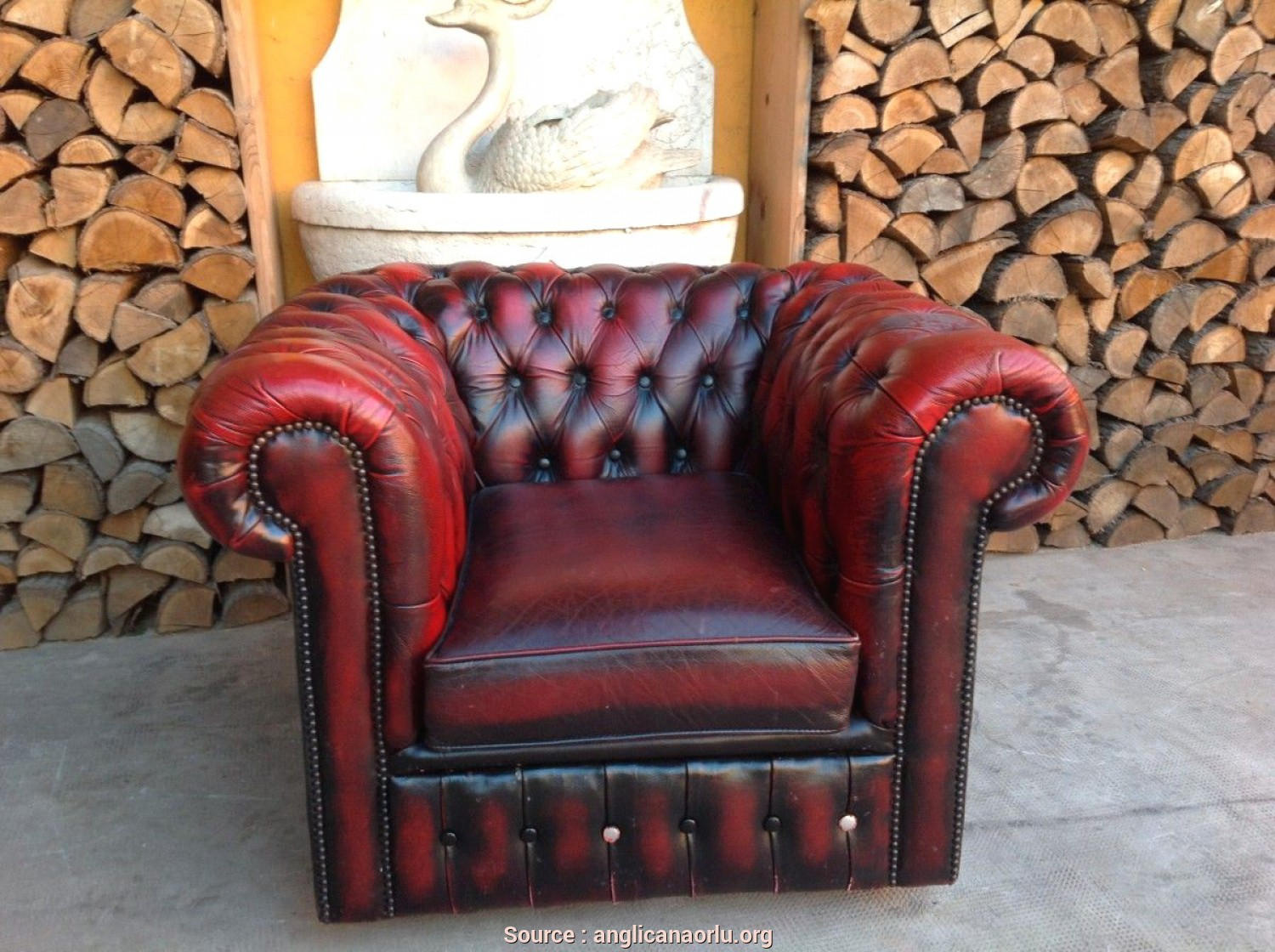 Completare 4 Poltrone Chesterfield Vintage