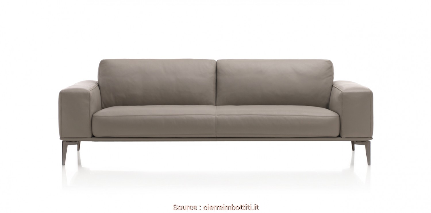 Poltrone E Sofa Divano Letto Pavullo, Minimalista The Feeling Of Being On A Cloud, Thanks To, Seat Cushions Made Lighter By Chrome-Plated Metal Legs