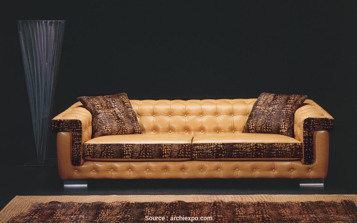 Sb Salotti Apollo, Eccezionale Chesterfield Sofa / Leather / 3-Seater / Black, ASCOT, Poles Salotti