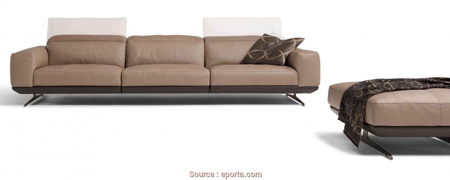 Sb Salotti Modello Gloria, Divertente Ego Italiano, Gloria 3 Seater Sofa (2 Cushions), Shown With Footstool