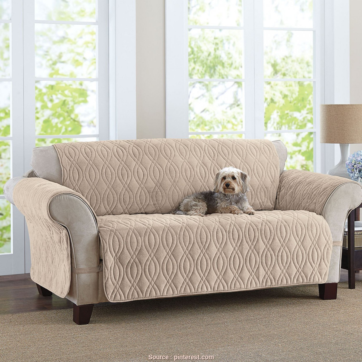 Sofa Saver Copridivano, Delizioso This Deluxe Quilted, Fleece-Like Sofa Cover Is Designed To Wrap, The Way