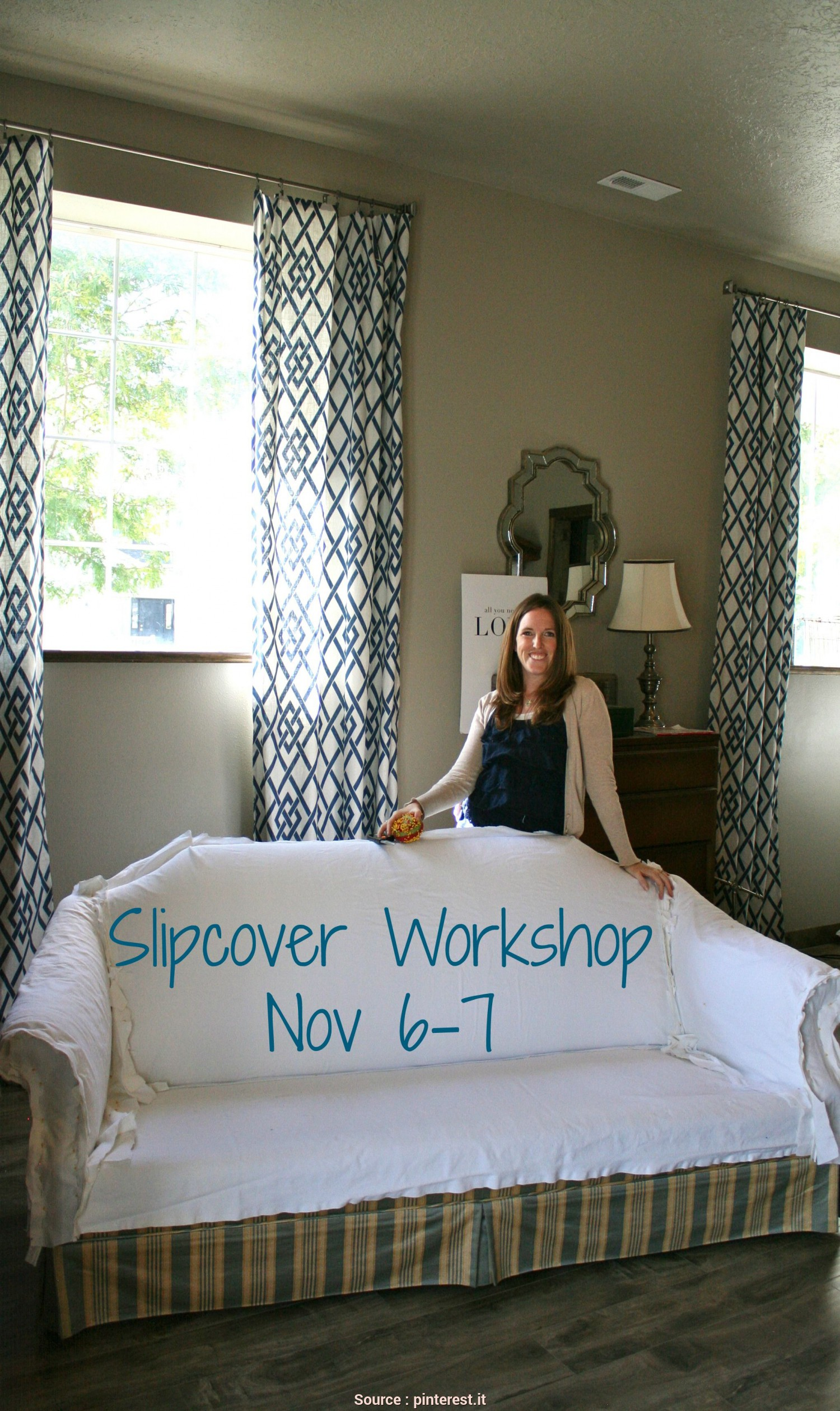 Tappezzeria, Divani, Da Te, Modesto Custom Slipcovers By Shelley: Slipcover Workshop, 6-7, 2015 Coperture, Divano