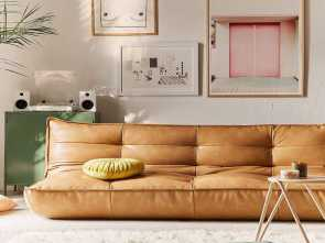 6 divani flour Greta Recycled Leather XL Sleeper Sofa, #UOHome, Home Decor Affascinante 5 6 Divani Flour