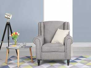 Amazon Plaid, Divano, Casuale Amazon.Com: Classic Scroll, Linen Fabric Accent Chair, Living Room Armchair With Nailheads (Light Grey): Kitchen & Dining