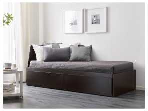 Asarum Ikea Anleitung, Amabile IKEA, FLEKKE Daybed With 2 Drawers/2 Mattresses Black-Brown, Husvika