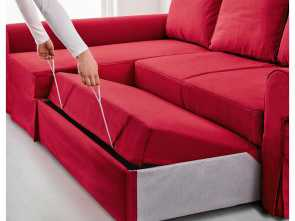 backabro ikea canada BACKABRO Sofa, with chaise longue Nordvalla red Esclusivo 6 Backabro Ikea Canada