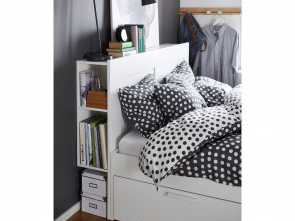 Brimnes Letto Video, Deale IKEA, BRIMNES,, Frame With Storage & Headboard, Full, -, ,, 4 Integrated Drawers Give, Extra Storage Space Under, Bed