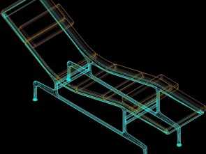 Chaise Longue, 3D, Sbalorditivo Chaise Longue Eames 3D, Model, AutoCAD, Designs CAD