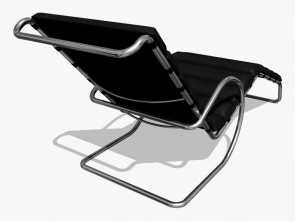Chaise Longue Mies Dwg, Deale MR Chaise Lounge Chair With Arms Royalty-Free 3D Model, Preview, 2
