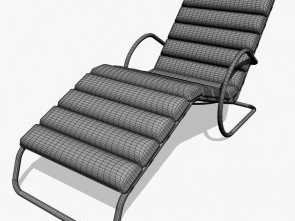 Chaise Longue Mies Dwg, Freddo MR Chaise Lounge Chair With Arms Royalty-Free 3D Model, Preview, 3